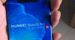 Nuova immagine del pannello frontale di Huawei Mate 20 Pro