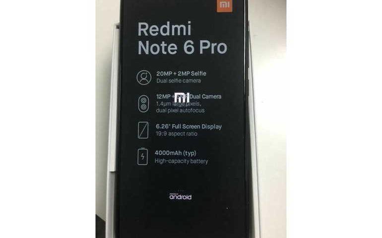 Una presunta foto mostra lo Xiaomi Redmi Note 6 Pro con alcune caratterisitiche