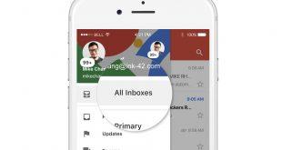 Gmail per iOS, le email di tutti gli account in un unico posto