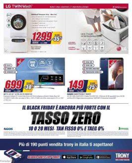 Black Friday volantino Trony, sconti fino al 50% fino al 30 novembre