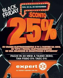 Black Friday Expert, volantino con il 25% di sconto