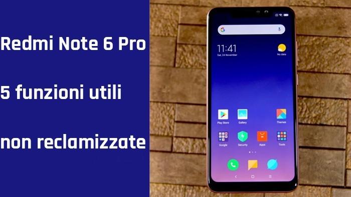 Redmi Note 6 Pro, focus su alcune caratteristiche