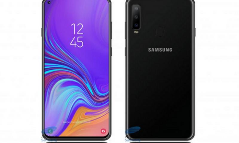 Galaxy A8s leaked, proteggi schermo con foro all'angolo