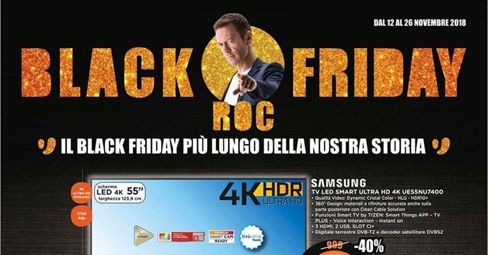 Nuovo volantino Unieuro, Black Friday Roc fino al 26 novembre