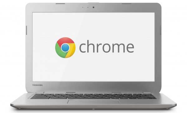 Esempio di Chromebook con sfondo Chrome