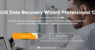 Recuperare file cancellati con EaseUS Data Recovery Wizard 12.8
