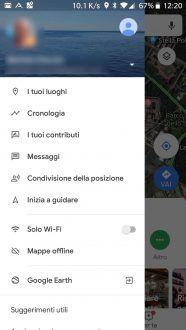 Google Maps mostra la voce messaggi. A cosa Serviranno?
