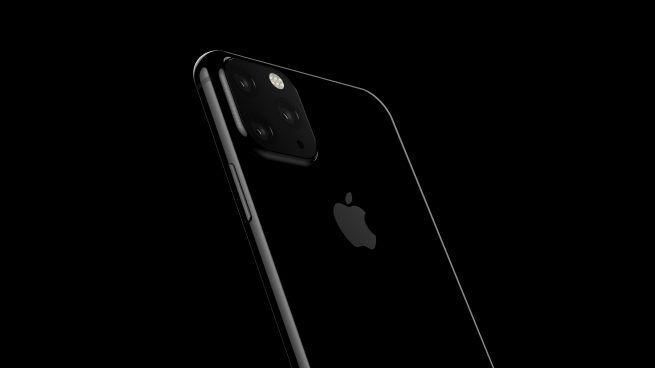 Rendering di iPhone 2019 con tre fotocamere posteriori