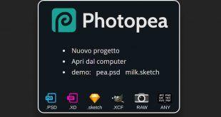 Photopea: editor immagini su web – adatto per i Chromebook