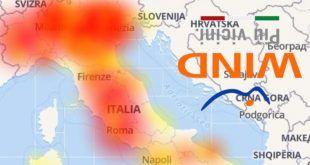 Problemi Wind Down 7 maggio con segnalazioni da Roma, Milano e Napoli