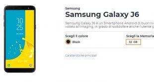 Come avere Samsung Galaxy J6 a meno di 1 euro al mese con Wind