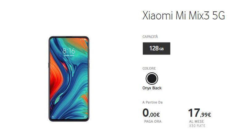 Come avere Xiaomi Mi MIX 3 5G con Vodafone a meno di 20 euro al mese