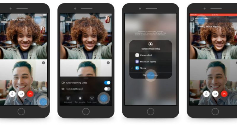Skype: la condivisione a schermo arriva su iOS e Android
