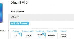 Come avere Xiaomi Mi 9 con Tre a meno di 11 euro al mese