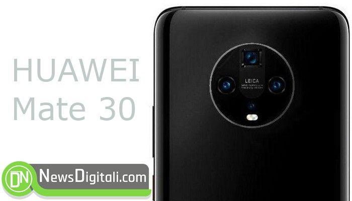 Il primo render di Huawei Mate 30 mostra una camera posteriore circolare