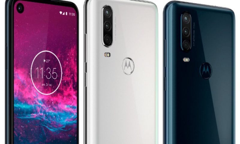 Trapela Motorola One Action in blu e bianco