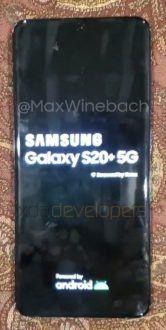 Galaxy S20 Plus: svelato il design ufficiale nelle prime foto