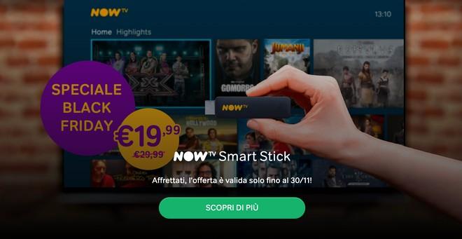 NOW TV Smart Stick è in offerta per il Black Friday