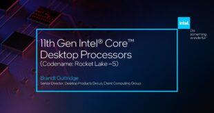 "CES 2021: Intel mostra in anteprima la CPU di punta ""Rocket Lake"""