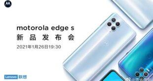 Motorola Edge S: la prima foto ufficiale