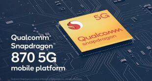 Qualcomm presenta ufficialmente Snapdragon 870 5G